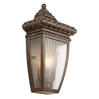 Kichler Lighting Venetian Rain Collection 1-light Brushed Bronze Outdoor Wall Lantern