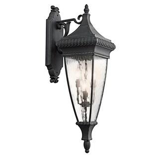 Kichler Lighting Venetian Rain Collection 4-light Black w/Gold Outdoor Wall Lantern