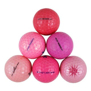 Assorted Pink Recycled Golf Balls with Bucket (Case of 50)
