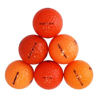 50 Orange Rubber Assorted Recycled Golf Balls with Free Bucket