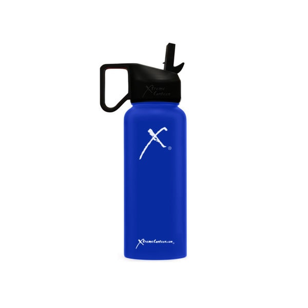 Double-Walled, Vacuum-Insulated, Stainless Steel Water Bottle w/ Straw Lid