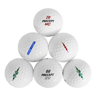 50 Precept Recycled Golf Balls with Free Bucket
