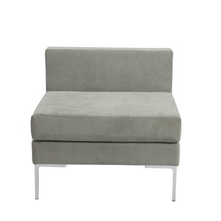 Vittorio Grey Armless Sofa