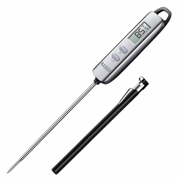Stainless Steel Digital Cooking Thermometer - grey. Opens flyout.