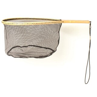 Eagle Claw Wood Trout Net with Rubberized Netting