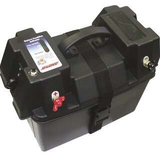 Seasense Unified Marine Deluxe Black Polypropylene Power Station Battery Box