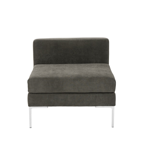 Vittorio Dark Grey Armless Sofa