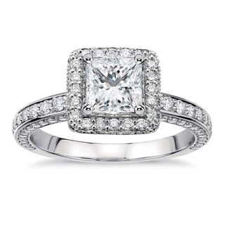 18k White Gold 2 2/5ct TDW Princess-Cut Diamond Engagement Ring (G-H, SI1-SI2)