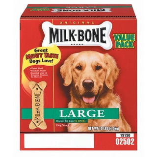 Milk Bone 10 Lb Large Original Milk Bone Dog Biscuits - Brown