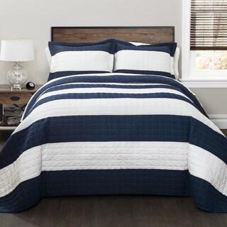 Lush Decor Stripe Quilt Set