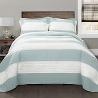 Lush Decor Stripe Quilt Set