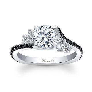 Barkev's 14k White Gold Designer Round Cut Diamond Engagement Ring (Option: 8.25)|https://ak1.ostkcdn.com/images/products/13787088/P20438127.jpg?impolicy=medium