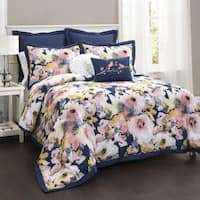 Copper Grove Plumeria Floral Watercolor 7-piece Comforter Set