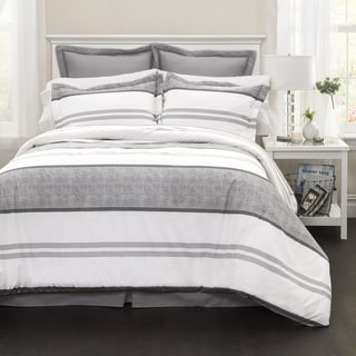 Lush Decor Hena Stripe 6-piece Comforter Set