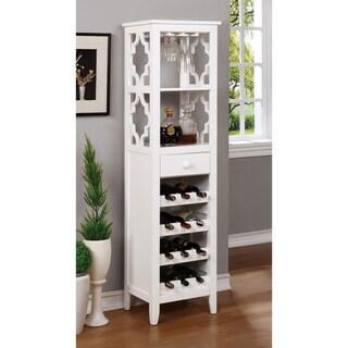 Furniture of America Danellla Contemporary Open Display Shelf/Wine Rack