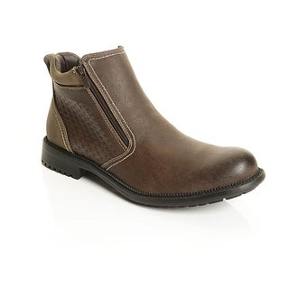 Solo Men's Check Pattern Ankle Boots