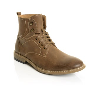 Solo Men's Stitch Detail Lace Up Above the Ankle Boots