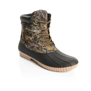 Solo Men's Leaf Print Rubber Duck Boots