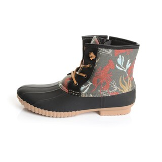 Solo Men's Lobster Print Rubber Duck Boots