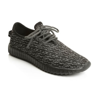 Solo Men's Marled Knit Mesh Lace Up Athletic Shoe