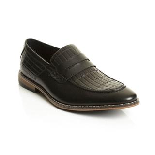 Henry Ferrera Collection Men's Slip-on Penny Dress Loafers