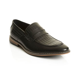 Henry Ferrera Collection Men's Slip-on Penny Dress Loafers