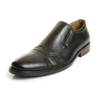 Henry Ferrera Collection Men's Faux Leather Slip-on Dress Loafers