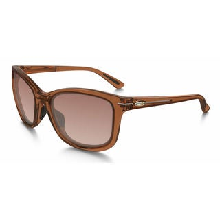 oakley womens sunglasses asian fit  oakley women's oo9232 13 drop in gemstone topaz frame vr brown gradient 58mm lens sunglasses