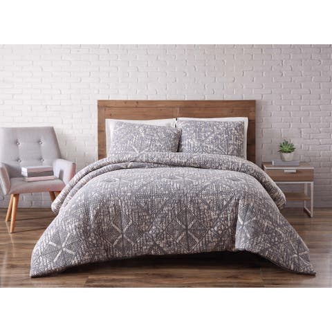 Brooklyn Loom Sand Washed Cotton Duvet Cover Set
