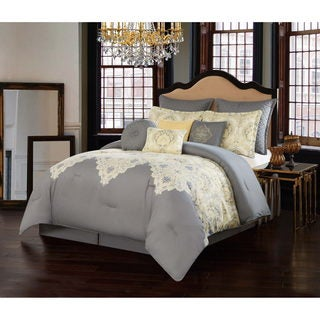 Milan Grey 10 Piece Comforter Set