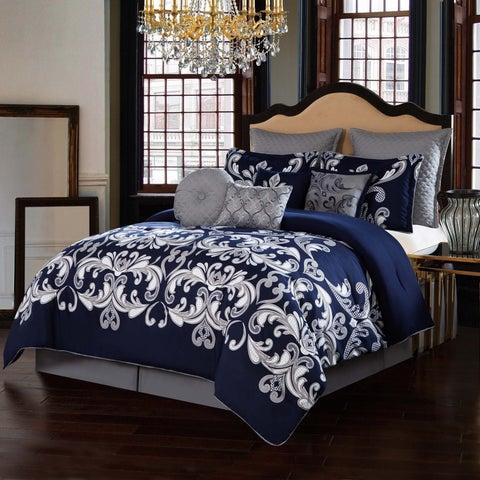 Style 212 Dolce Navy 10-Piece Comforter Set