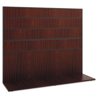 basyx Manage Series Work Wall, Laminate, 60w x 17d x 50h, Chestnut