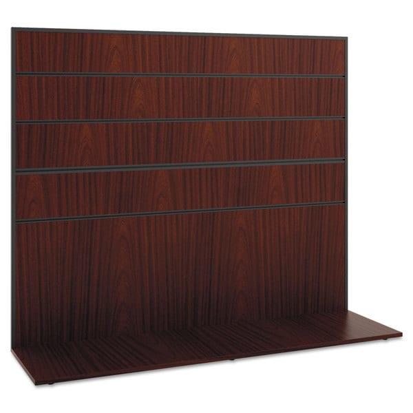 basyx Manage Series Work Wall, Laminate, 60w x 17d x 50h, Chestnut