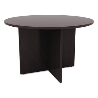 Alera Valencia Round Conference Table with Legs, 29 1/2h x 42 dia.