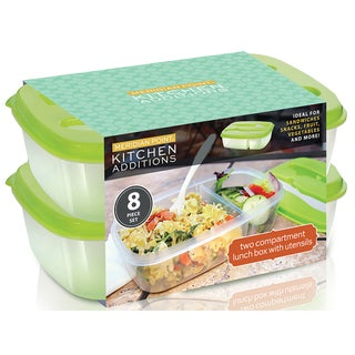 Kitchen Additions Assorted Plastic Stackable Food Storage Container