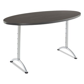 Iceberg ARC Sit-to-Stand Desks, Oval Top, 36w x 72d x 30-42h