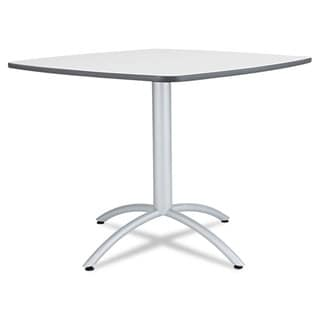 Iceberg Cafe Table, Breakroom Table, 36w x 36d x 29h, Grey Melamine Top, Steel Legs