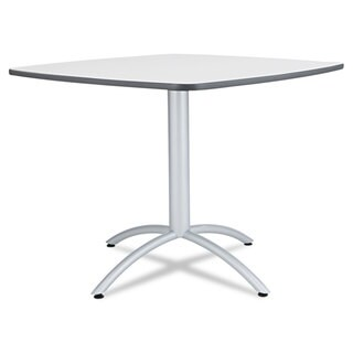 Iceberg Cafe Table, Breakroom Table, 36w x 36d x 29h, Grey Melamine Top, Steel Legs