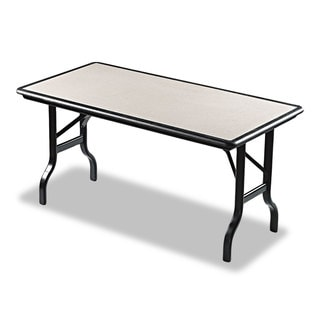 Iceberg IndestrucTables Resin Rectangular Folding Table, 60w x 30d x 29h, Granite/Black