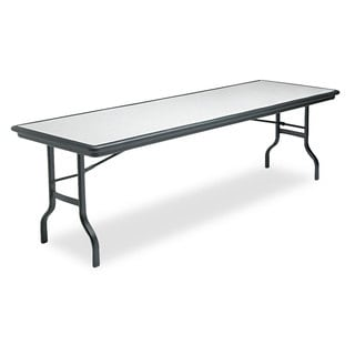 Iceberg IndestrucTables Resin Rectangular Folding Table, 96w x 30d x 29h, Granite/Black