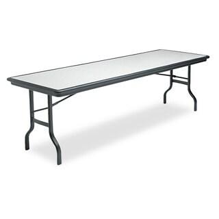 Iceberg IndestrucTables Resin Rectangular Folding Table, 96w x 30d x 29h, Granite/Black