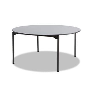"Iceberg Maxx Legroom Round Folding Table, 60"" Dia. x 29-1/2""h, Grey/Charcoal"