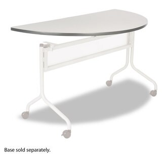Safco Impromptu Series Mobile Training Table Top, Half Round, 48w x 24d, Grey
