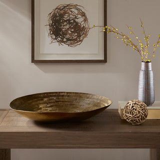 INK+IVY Orly Brass Handmade Disk Bowl-Extra Large