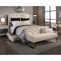 Republic Design House Peyton Ivory King/ Cal King Wingback Bedroom Collection with Sofa Bench Option