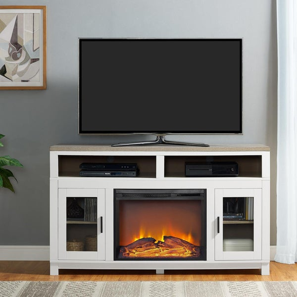 Shop Ameriwood Home Carver Electric Fireplace Tv Stand For Tvs Up To