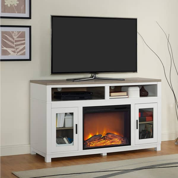 Shop Ameriwood Home Carver Electric Fireplace Tv Stand For Tvs Up