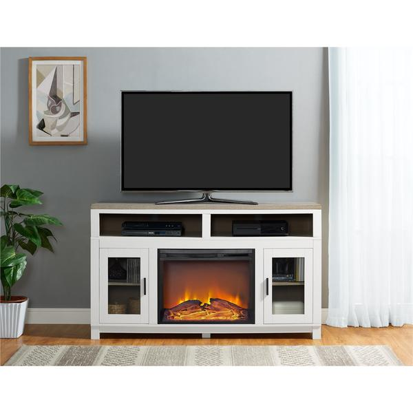 ameriwood home carver electric fireplace tv stand for tvs up to 60 inches - Electric Fireplaces With Tv Stands