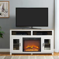 Ameriwood Home Carver Electric Fireplace TV Stand for TVs up to 60 inches