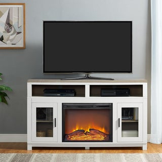 Ameriwood Home Carver Electric Fireplace TV Stand for TVs up to 60 inches (3 options available)